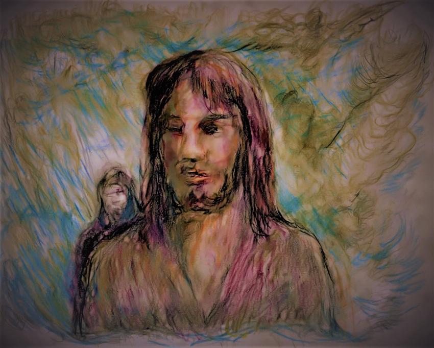 Jesus Christ by EddieLeCrayon